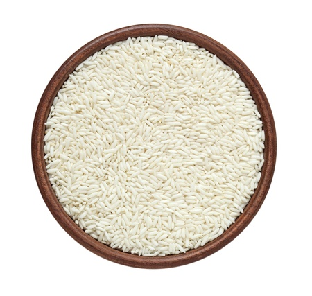 basmati: Glutinous rice isolated on white