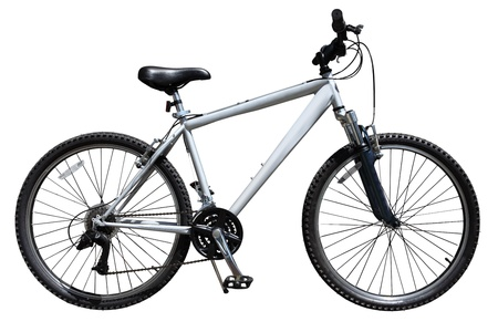 mountain bicycle: Mountain bicycle bike isolated on white background Stock Photo