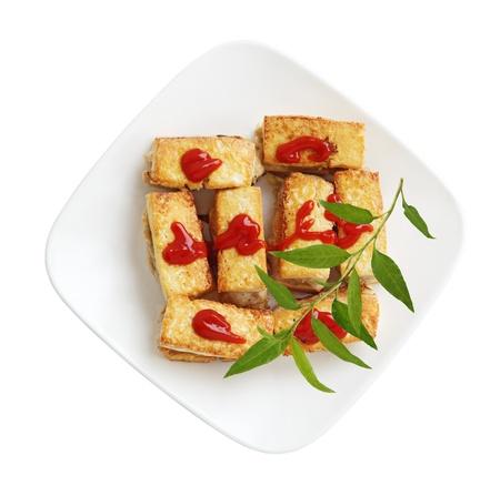 Fried stuffed tofu with pork and shrimp Stock fotó