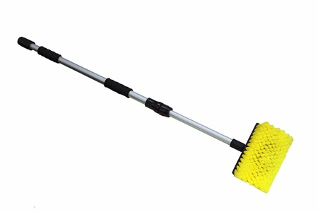 adjustable: Single cleaning brush with long adjustable handle