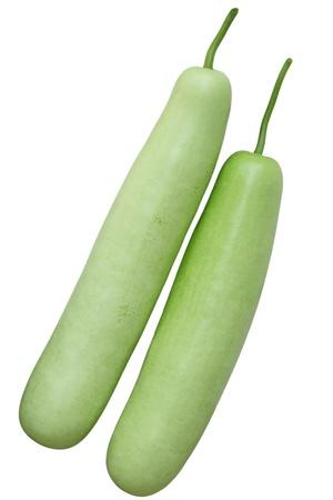 Lagenaria vulgaris fruit isolated on white background