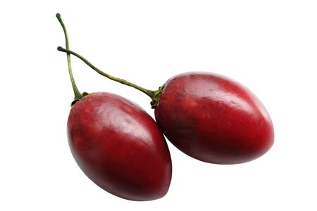 tamarillo: Two tamarillo fruits isolated on white background Stock Photo