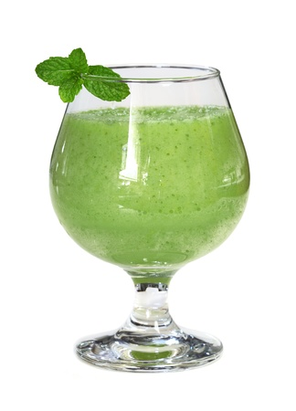 fruit smoothie: Five green vegetable and fruit (apple, bitter melon, pepper, celery, cucumber)
