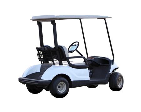 白い背景で隔離ゴルフ カート golfcart