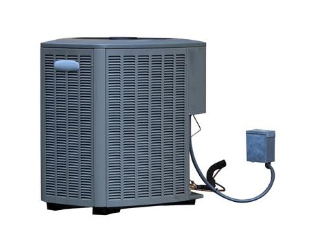aire acondicionado: Aire acondicionado de alta eficiencia AC unidad, la energ�a soluci�n de ahorro Foto de archivo
