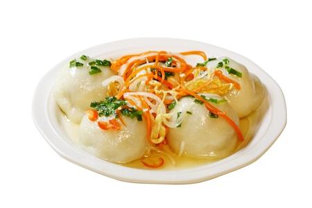 tran: Glutinous Dumplings filled with mung bean, black mushroom, shrimp, pork.  Vietnamese cuisine, banh it tran