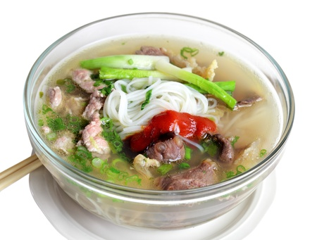 Beef noodle Vietnamese cuisine, pho Stock Photo
