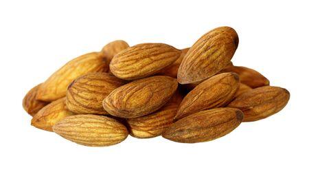 Almond Nut group isolated on white background photo