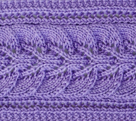 needle laces: Purple lilac knitting pattern for abstract background