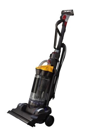 cleaners: Krachtige Vacuum machine op een witte achtergrond