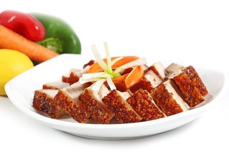 chinese pig: Crujiente de cerdo asado cocina vietnamita del vientre