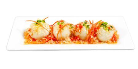vietnamse: Savoury glutinous dumpling stuffed with mung bean, pork,, shrimp Stock Photo