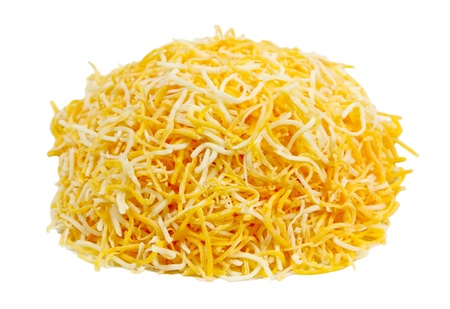 Pile of shredded monterey jack and cheddar cheese  Editorial