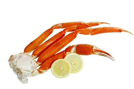 Cooked crab cluster isolated on white background