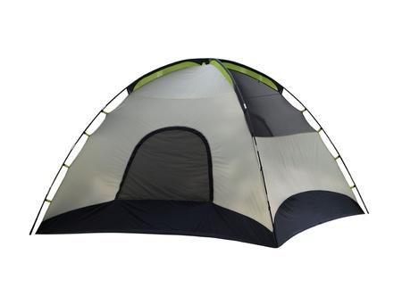 Tente de camping isolé sur fond blanc Banque d'images - 16469103
