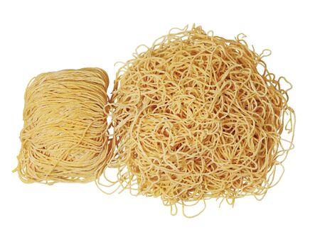 Raw noodle wonton isolated on white background