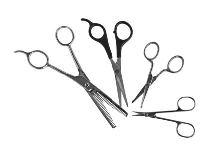 Fourdifferent kinds of scissors photo
