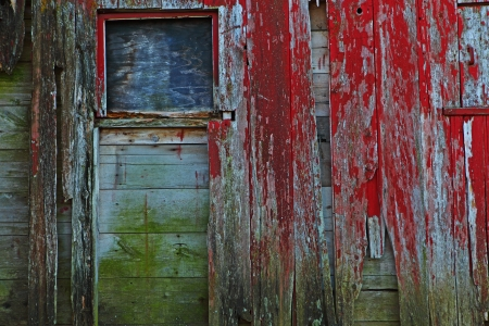 rule of thirds: Old barn with creepy window for background