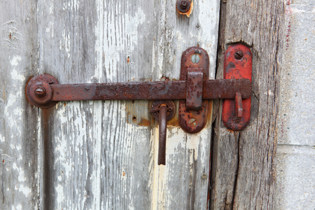 Rusty Latch on a old door