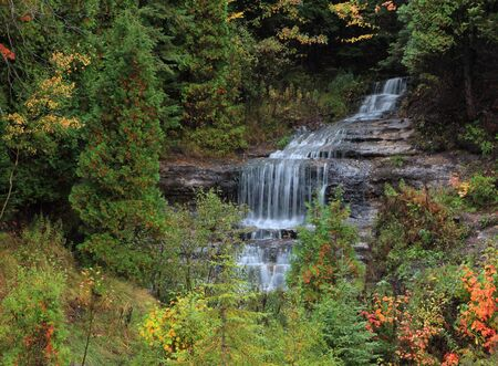 alger: Alger Falls est di Munising Upper Peninsula Michigan Archivio Fotografico