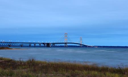 mackinac: Sunrise of the Mackinac Bridge Michigan