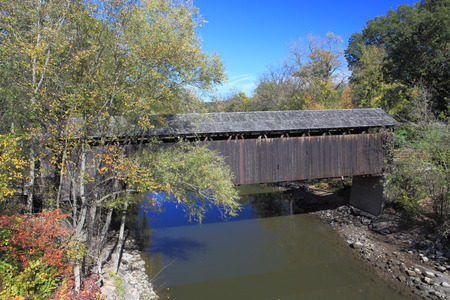 township: Covered Bridge over Thornapple River in Ada Township, Michigan