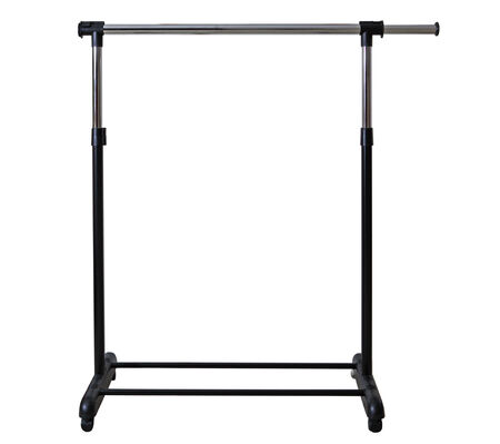 clothes rack: Mobile Clothes Racks Garment Rails isolated on white background Stock Photo