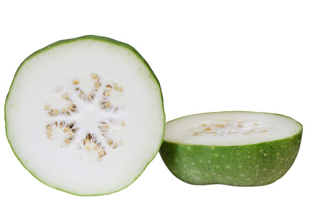 Raw winter melon isolated on white background