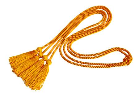 Curvy Graduation honor cord isolated on white background Фото со стока