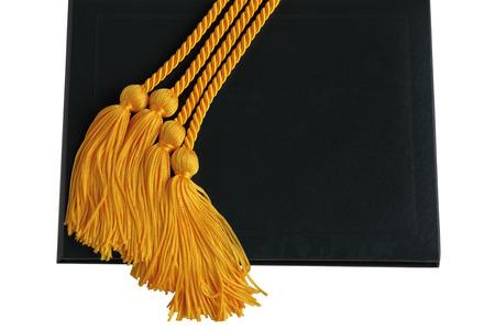 fondo de graduacion: Cuerdas honorgraduation oro sobre diploma negro
