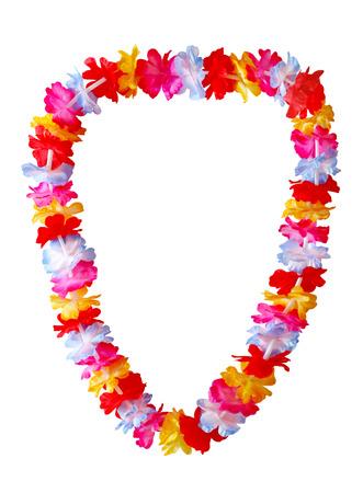 Collana lei Hawaiian isolato su sfondo bianco Archivio Fotografico - 27702956