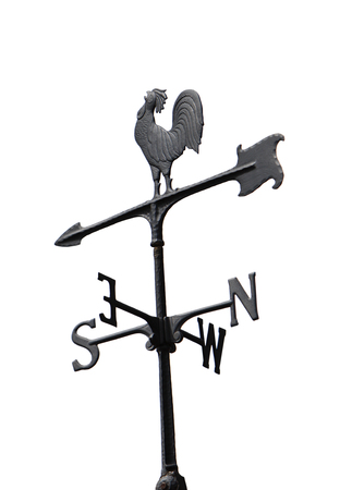 gusty: Weather Vane wind direction isolated on white background