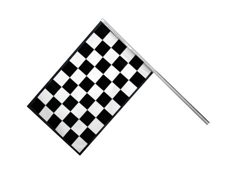 chequer: Checkered race finish flag isolated on white background