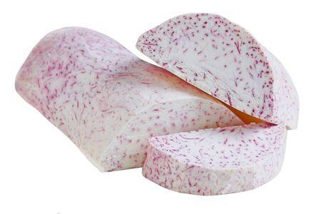 esculenta: Edible Colocasia Esculenta Taro isolated on white background