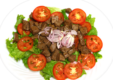 Mignon Shaking beef ( stir-fried) with salad