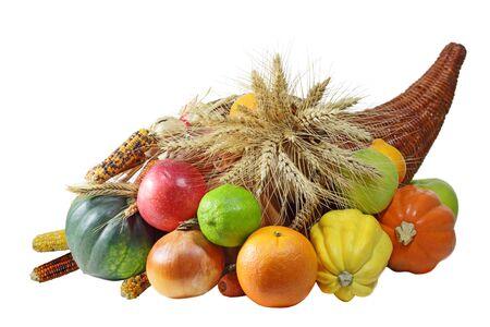 Thanksgving 宝庫収穫された果物や野菜の完全