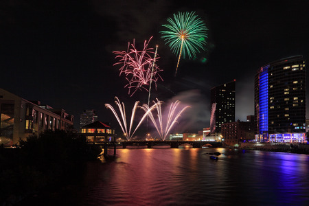 Fireworks display at Grand Rapids celebration 4th of July