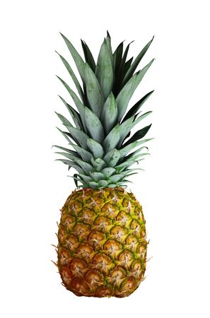 Rip pineapple fruit isolated on white background Фото со стока