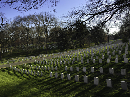 Arlington National Cemetery in Washington DC in the Spring time