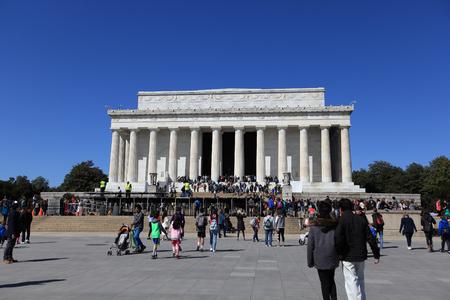 Washington, DC - Mar 31, 2018: Lincoln Memorial in Washington, D.C., USA