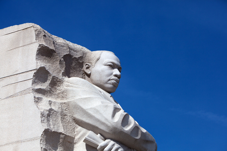 WASHINGTON, DC - APRIL 06, 2018: The Martin Luther King Jr Memorial in West Potomac Park, Washington District Columbia, USA.