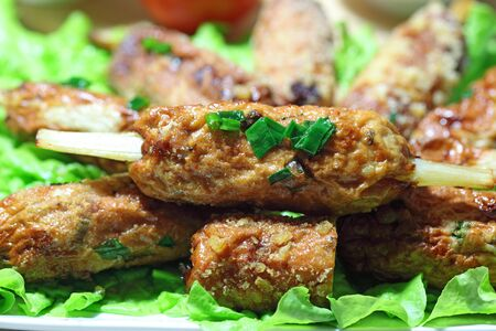 Delicious Grilled Shrimp and Pork Paste with Bread Crumbs