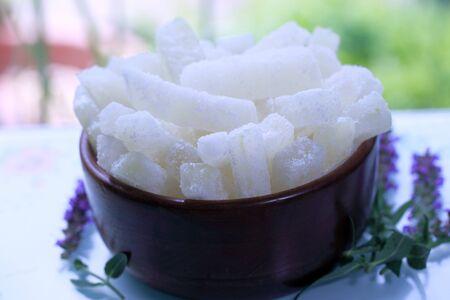 Homemade Wax Gourd Winter Melon Candies Reklamní fotografie