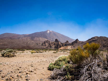 Beautiful landscape of Teide National Park in Tenerife Canary Islands Spain