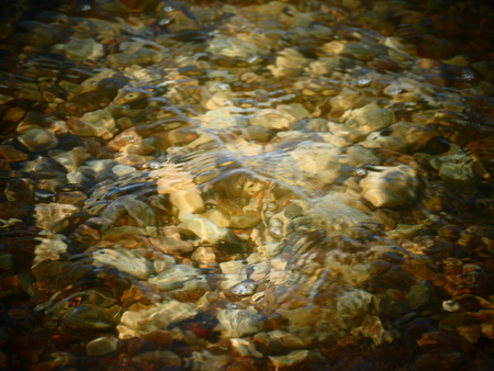 Texture of stones under water in the sea photo