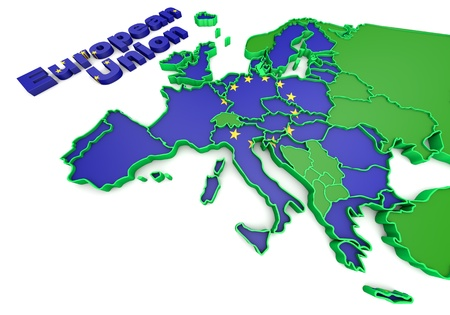 Map of European countries business 3d illustration illustration
