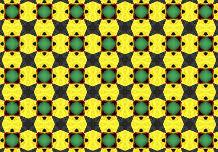Abstract Kaleidoscope circle Background texture illustration map illustration