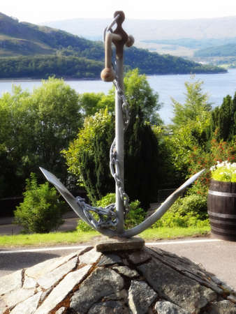 scotish: ships anchor monument in scotish highlands, fort Stock Photo