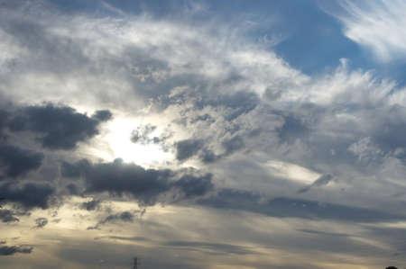 incarnadine: Cloudy sunset at baltic sea, dark sky