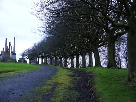 necropolis: View of the Necropolis in Glasgow, Scotland